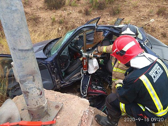 Accidente de tráfico con atrapados en Javalí Nuevo - 1, Foto 1