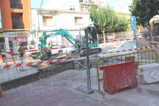 Prosiguen las obras de arreglo de un tramo de la red de alcantarillado en la calle General Aznar - 2, Foto 2