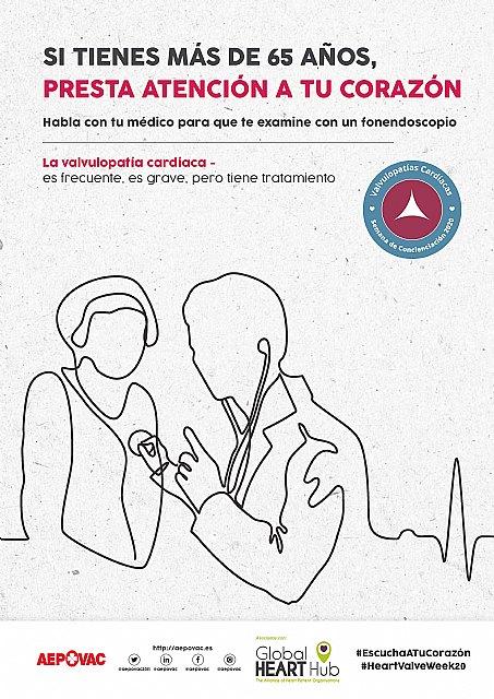 AEPOVAC: El 90% de los españoles mayores de 60 años desconoce lo que son las Valvulopatías - 1, Foto 1