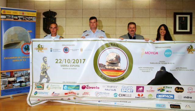 """La III Carrera de Montaña """"DRAGONChallenge"""" se celebra este próximo domingo, con dos pruebas de 17 y 32 kilómetros respectivamente, por los principales parajes de Sierra Espuña"""