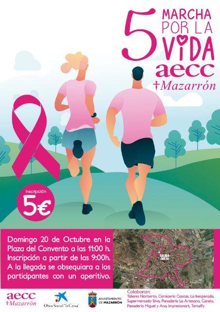 La 5ª marcha por la vida de la AECC recorrerá este domingo las calles de Mazarrón, Foto 2