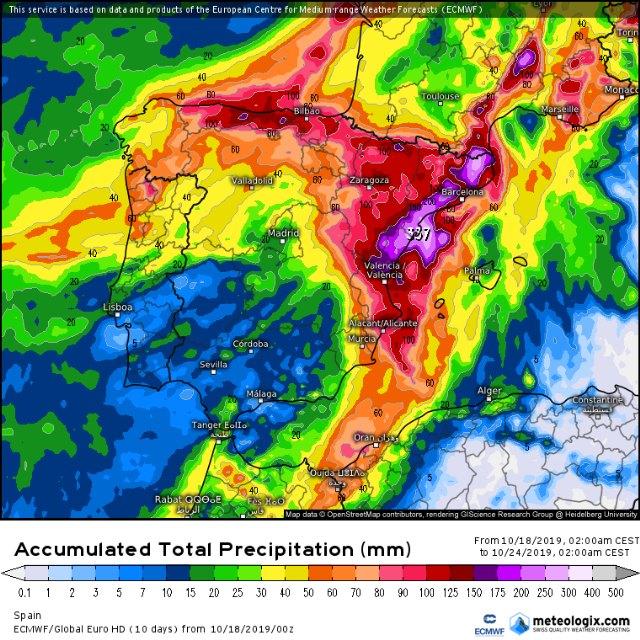 Las lluvias intensas regresan a la vertiente mediterr�nea, Foto 2