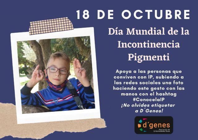 D´Genes lanza una campaña para dar visibilidad a la Incontinencia Pigmenti con motivo del Día Mundial de esta patología - 1, Foto 1