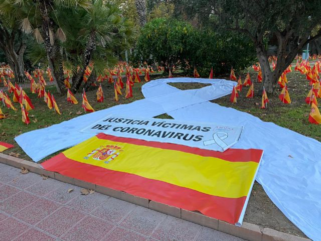 ANVAC pays tribute in Murcia to the 56,000 deceased by Coronavirus, Foto 1