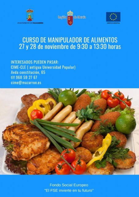 Curso de manipulador de alimentos para los días 27 y 28 de noviembre - 1, Foto 1