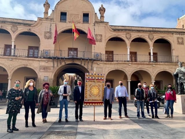 La Federación San Clemente estrena una réplica del estandarte almohade conservado en las Huelgas Reales de Burgos - 2, Foto 2