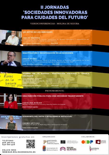 II Jornadas online Sociedades innovadoras para ciudades del futuro en Molina de Segura - 1, Foto 1