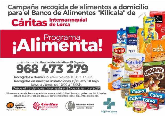 Arranca la campaña ¡alimenta!´ con la que la Fundación Iniciativas El Gigante quiere ´arrimar´ el hombro a las familias desfavorecidas a través de Cáritas Interparroquial - 1, Foto 1