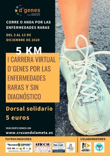 Del 3 al 13 de diciembre se podrá participar en la I Carrera Virtual D´Genes por las enfermedades raras y sin diagnóstico - 1, Foto 1