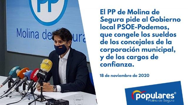 El PP pide al Gobierno local que congele los sueldos de los concejales y de los cargos de confianza - 1, Foto 1