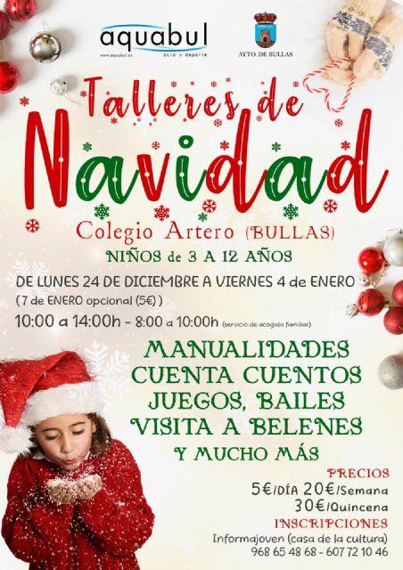 Durante la Navidad los niños de Bullas podrán asistir a los talleres impartidos por Aquabul - 1, Foto 1
