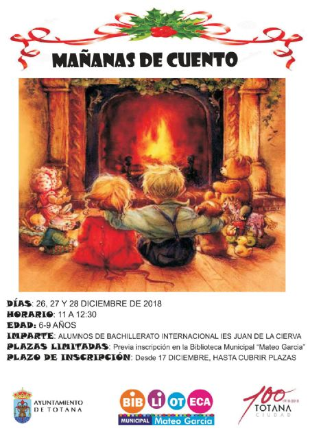 """Mornas de Cuento"" from December 26 to 28 in the library"