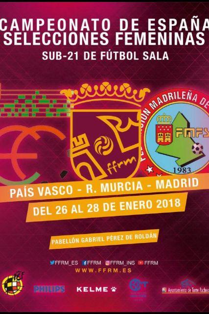La Fase Semifinal del Campeonato de España Sub-21 Femenino de Fútbol Sala se celebra del 25 al 28 de enero en Roldán - 1, Foto 1