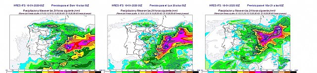 """The storm """"Gloria"""" will, from now on, a harsh winter storm on the Spanish Mediterranean facade, Foto 2"""