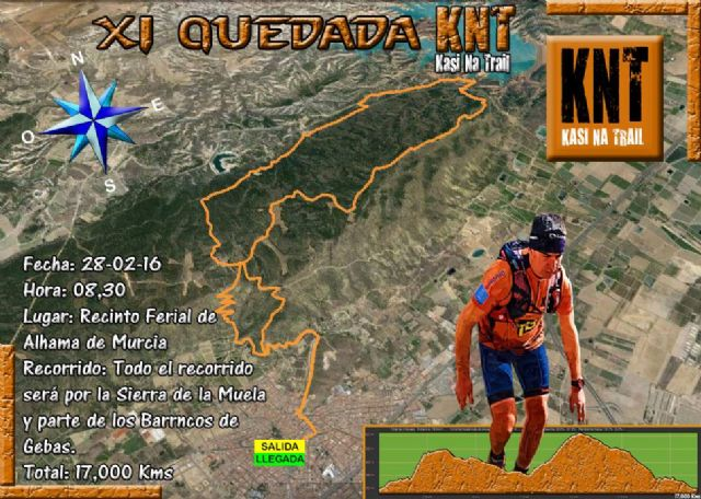 The XI Quedada mountain KNT group will take place on Sunday February 28