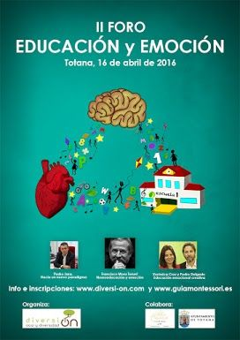 "The ""Education & Emotion II Forum"" will take place on Saturday April 16 in Totana"