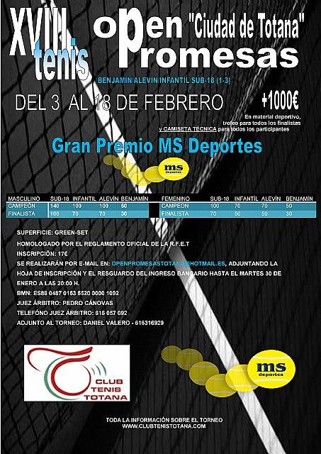 """Finaliza el XVIII Open Promesas de Tenis """"Ciudad de Totana"""", Foto 2"""