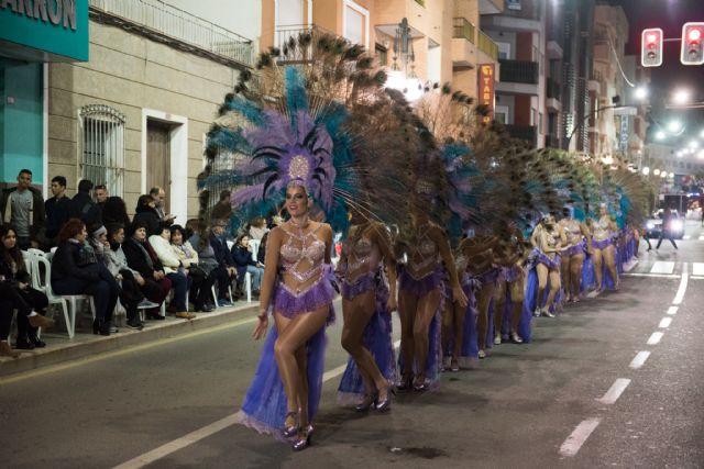 Rosazul de Sangonera la Verde gana el desfile de peñas visitantes, Foto 1