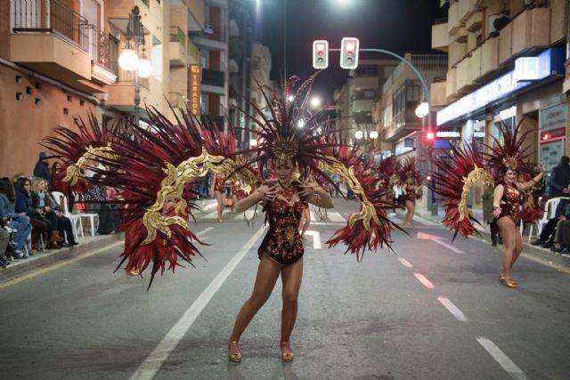Rosazul de Sangonera la Verde gana el desfile de peñas visitantes, Foto 3