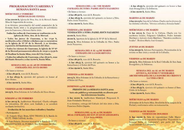 Presentación de la programación y el cartel de la Semana Santa 2021 de Calasparra - 5, Foto 5