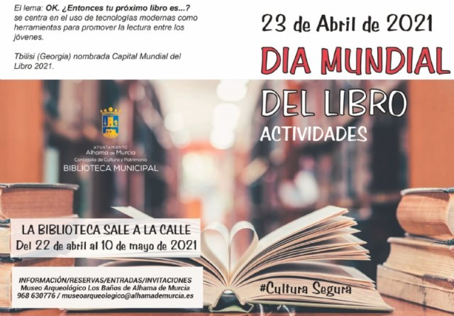 Programación cultural por el Día Mundial del Libro 2021. Del 16 de abril al 10 de mayo - 1, Foto 1