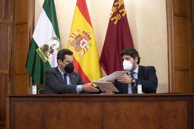 Región de Murcia y Andalucía unen fuerzas en defensa del trasvase Tajo-Segura y de los dos millones y medio de personas a los que abastece, Foto 1