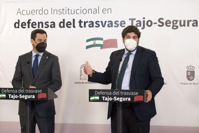 Región de Murcia y Andalucía unen fuerzas en defensa del trasvase Tajo-Segura y de los dos millones y medio de personas a los que abastece, Foto 3