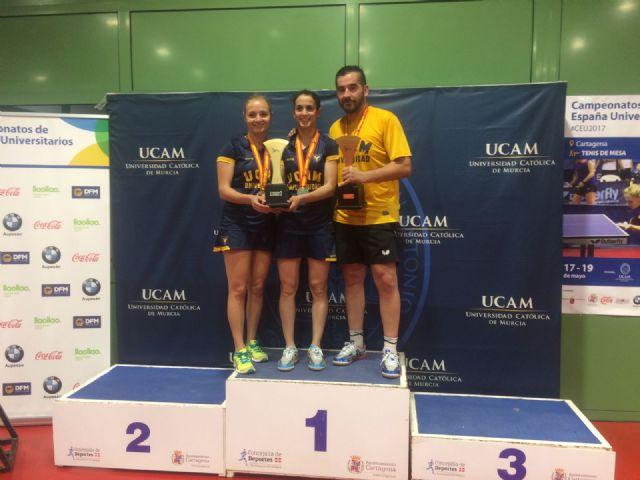 La UCAM logra siete medallas más en el Campeonato de España Universitario de tenis de mesa - 1, Foto 1