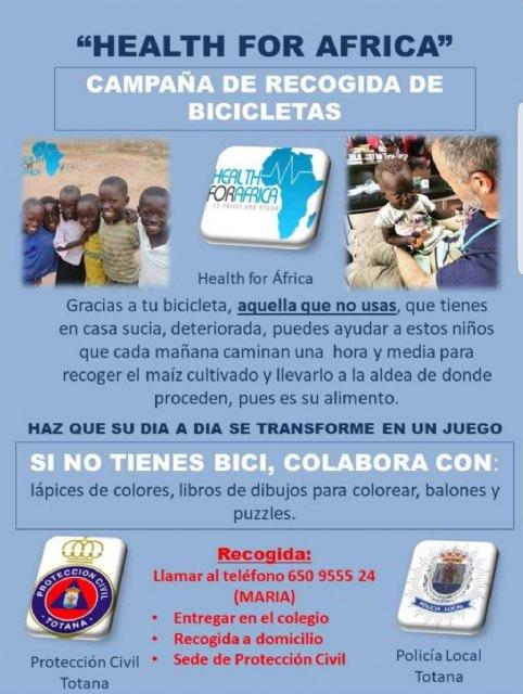 La Policía Local presenta una campaña solidaria a los centros escolares para la recogida de bicicletas usadas y material escolar para el Tercer Mundo