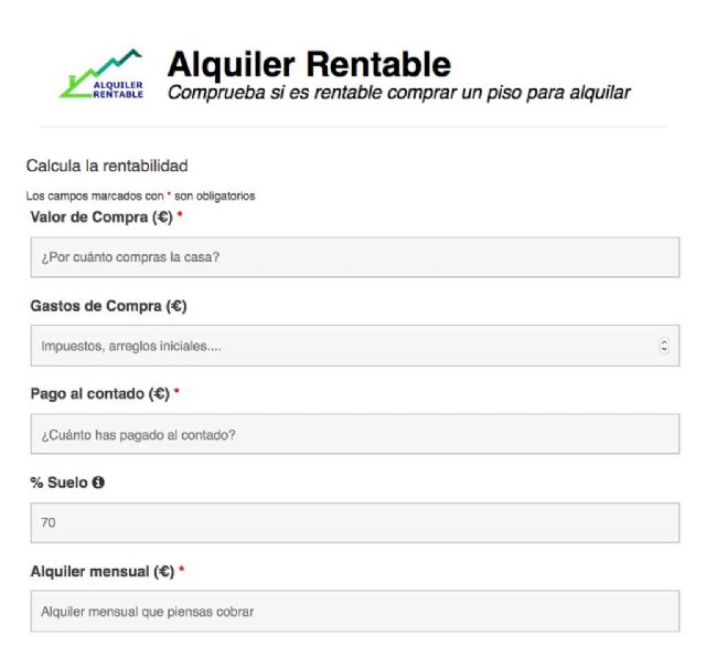 Nace Alquiler Rentable, el simulador gratuito e independiente para ayudar a los inversores a calcular la rentabilidad de comprar para alquilar - 1, Foto 1
