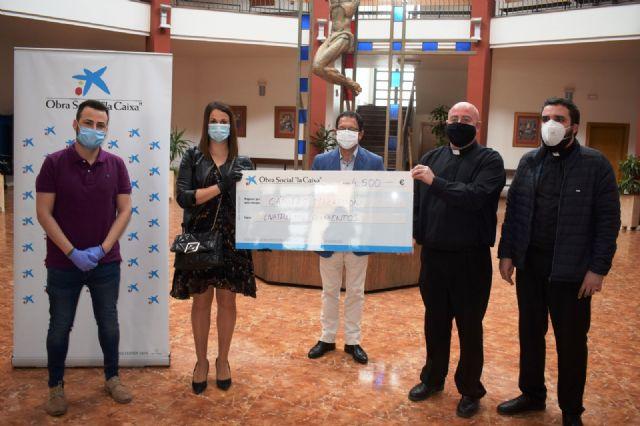 Cáritas Mazarrón recibe 4.500 euros de La Caixa, Foto 1