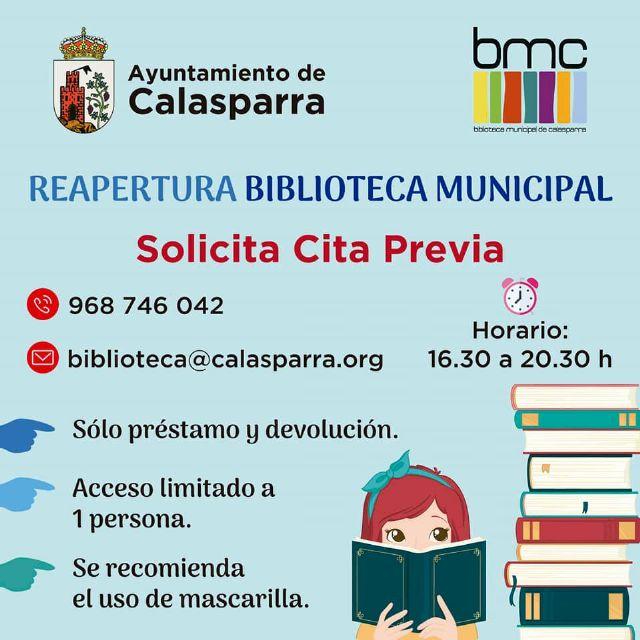 La Biblioteca y el Archivo Municipal han abierto de nuevo sus puertas en Calasparra - 1, Foto 1