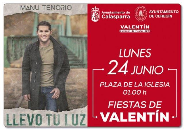 MANU TENORIO presenta el 24 de junio su décimo álbum en la pedanía murciana de Valentín - 1, Foto 1