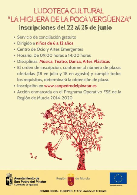 San Pedro del Pinatar ofrece una ludoteca cultural gratuita dirigido a niños de 6 a 12 años - 1, Foto 1