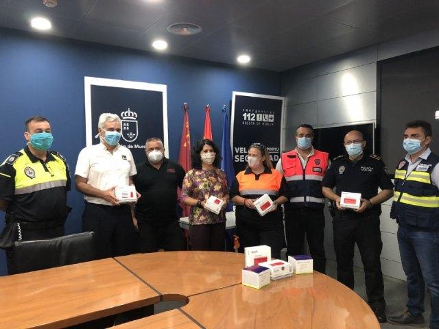 La Comunidad Autónoma reparte a la Policía Local y Protección Civil de Totana unidades de test de inmunidad para la detección de anticuerpos del COVID-19 - 1, Foto 1