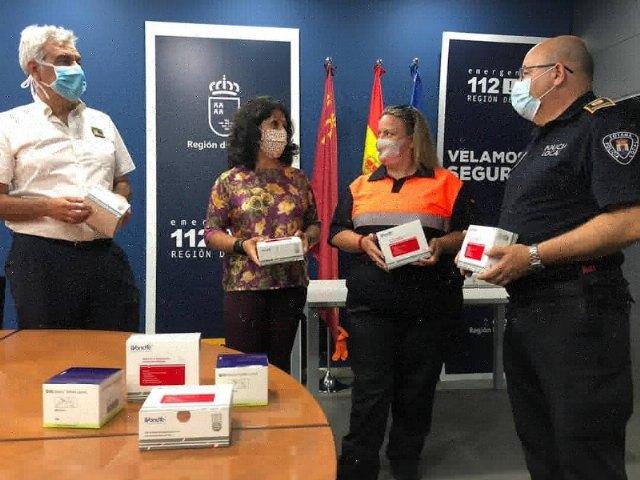 La Comunidad Autónoma reparte a la Policía Local y Protección Civil de Totana unidades de test de inmunidad para la detección de anticuerpos del COVID-19 - 3, Foto 3