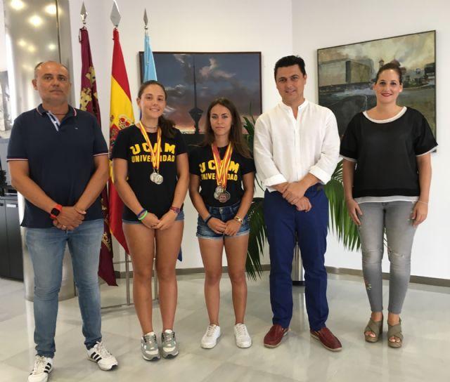 Nerea Ferrer y Ana Belén Martínez, de la Escuela de Piragüismo de Santiago de la Ribera se proclaman campeonas de España en C-2, en Pontevedra - 1, Foto 1