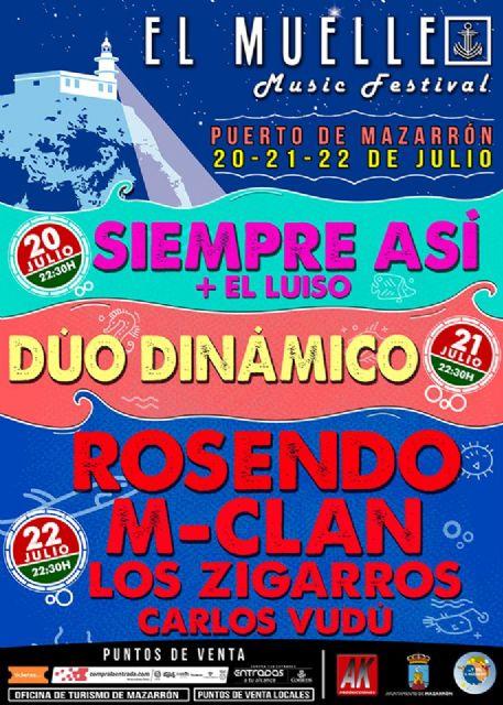 Puerto de Mazarrón se prepara para vivir el espectáculo de el muelle music festival - 1, Foto 1