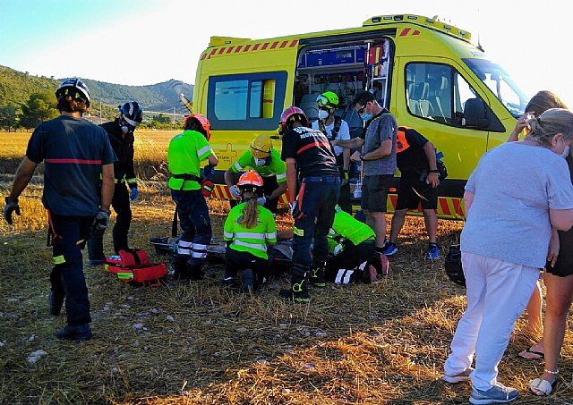 Parapentista accidentado en la Sierra de la Magdalena - 1, Foto 1