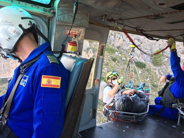 Parapentista accidentado en la Sierra de la Magdalena - 2, Foto 2