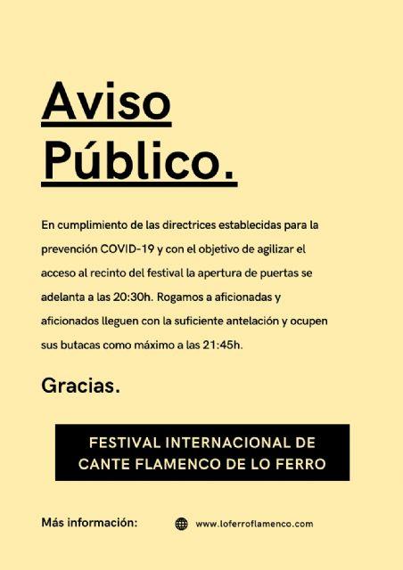 La gala solidaria en homenaje al Tío Juan Rita abre el XLI Festival de Lo Ferro - 1, Foto 1