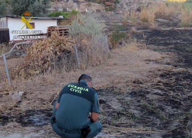 La Guardia Civil investiga a dos personas por un incendio forestal ocurrido en Blanca - 2, Foto 2