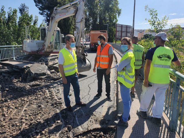 Fomento inicia las obras de mejora de la seguridad vial en la travesía de acceso a Archena - 1, Foto 1