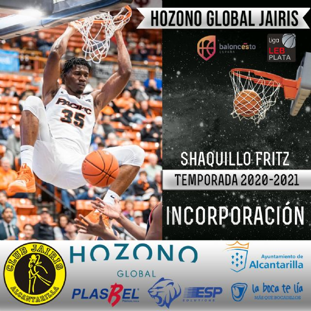 Shaquillo Fritz nueva incorporación a la plantilla del Hozono Global Jairis - 1, Foto 1