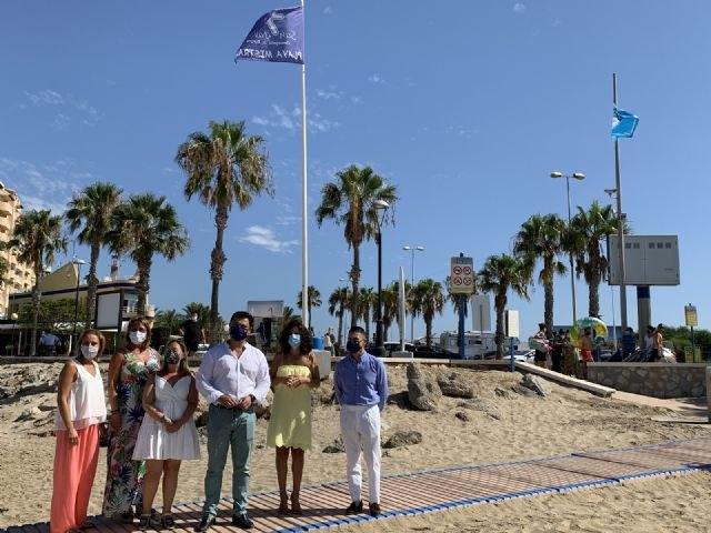 La bandera de Turismo Seguro ondea en las playas de San Javier y San Pedro del Pinatar - 1, Foto 1