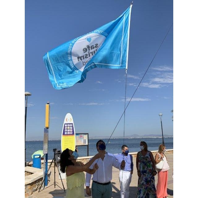 La bandera de Turismo Seguro ondea en las playas de San Javier y San Pedro del Pinatar - 2, Foto 2