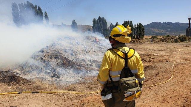 Incendio de restos de plantas aromáticas en Zaén de Arriba - 2, Foto 2