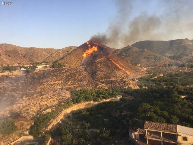 Incendio forestal en la Cañada Isidro, en Blanca - 1, Foto 1