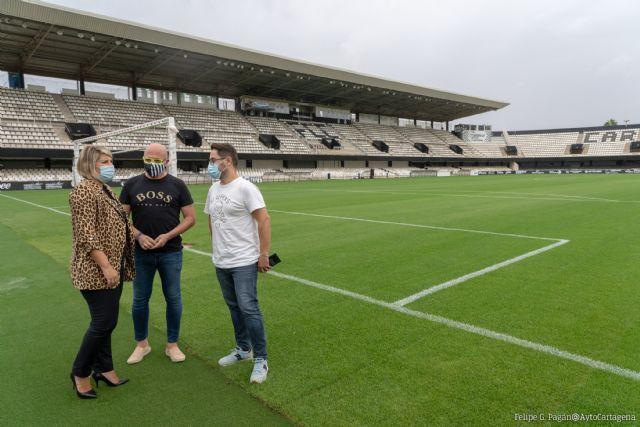 El Cartagena juega su primer partido en casa con las obras exigidas por la Liga finalizadas para el encuentro - 1, Foto 1