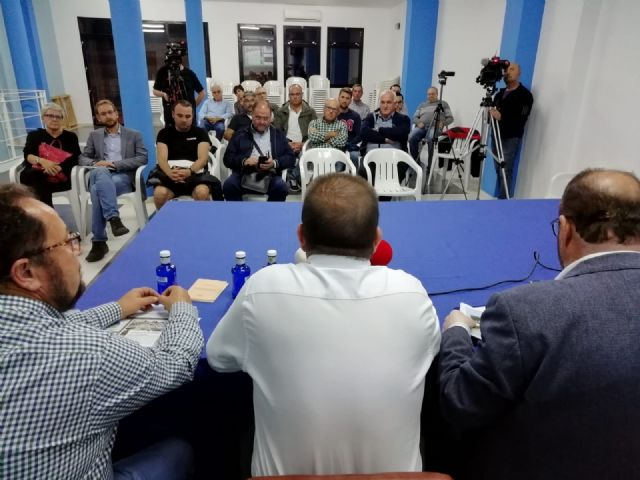 A round table is held on the construction of the Tajo-Segura Aqueduct in the municipality of Totana
